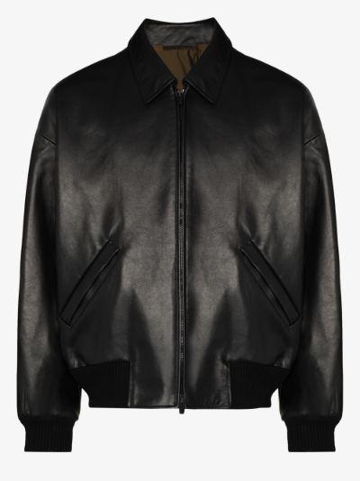FEAROFGODZEGNA nappa leather jacket