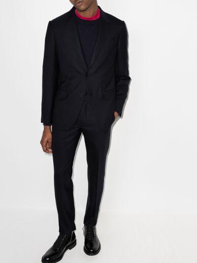 Packaway two-piece wool suit