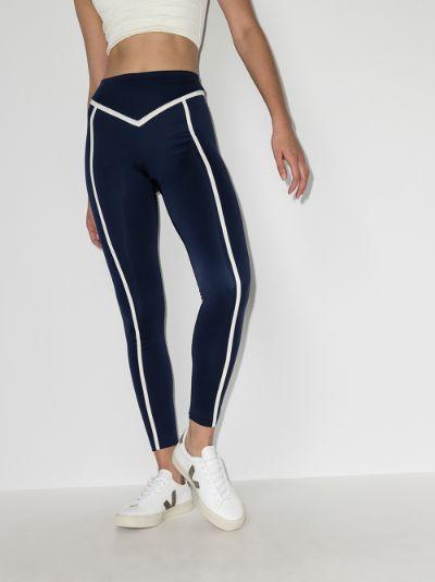 Corset contrast ribbing leggings