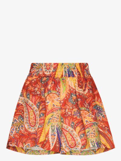 Cipro paisley print shorts