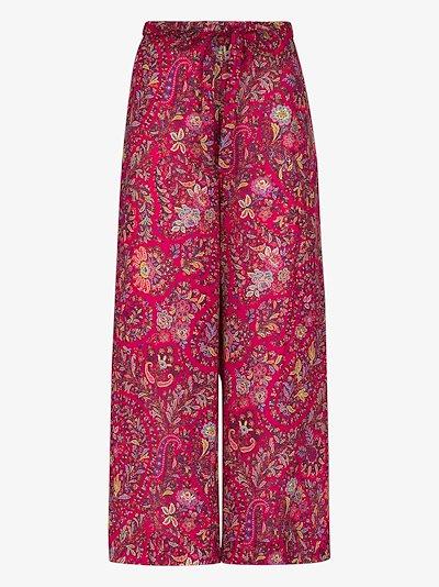 Creta paisley wide leg trousers
