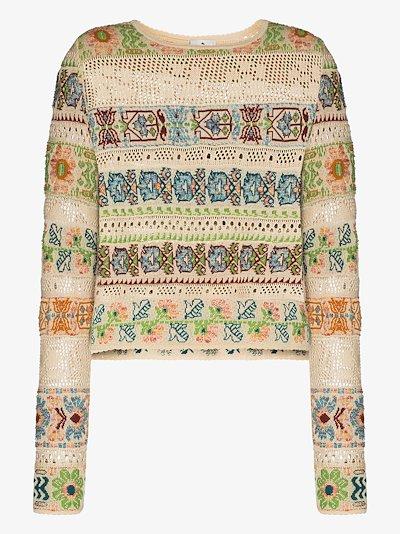 crochet knit patterned top