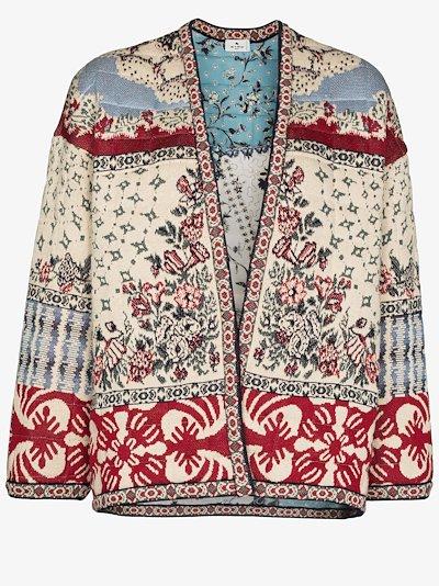 floral open jacket