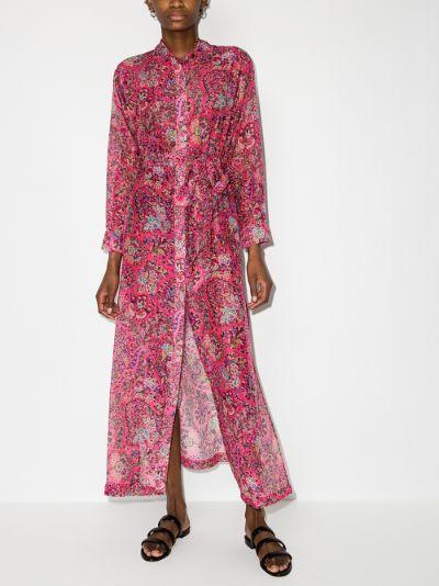 Gianturi paisley print shirt dress