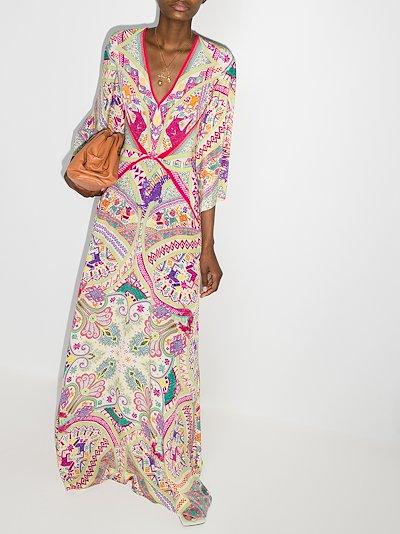Idra paisley print silk maxi dress