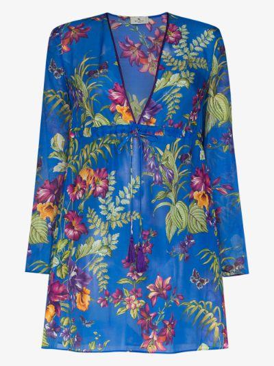 Itaca paisley print mini dress