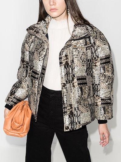 Jacquard Cropped Puffer Jacket
