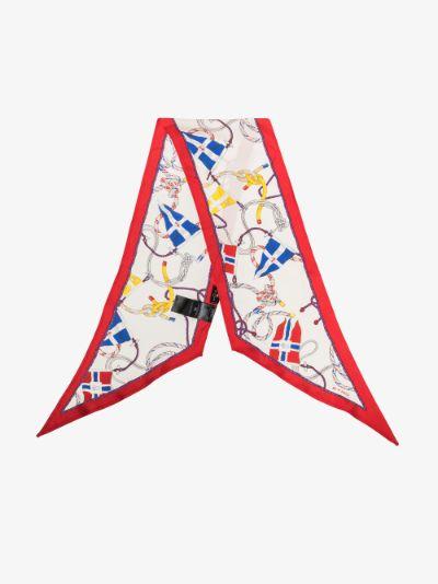 Multicolour Antibes silk scarf