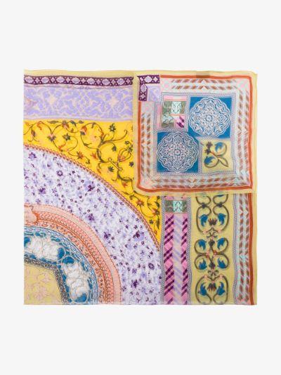 multicoloured Bombay silk scarf