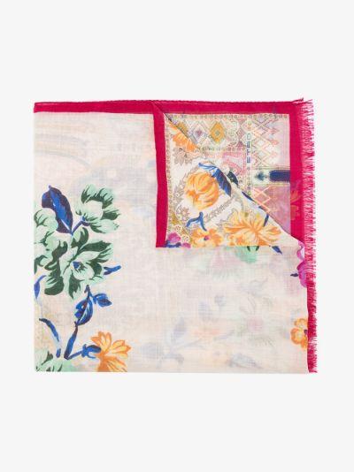 multicoloured Calcutta silk scarf