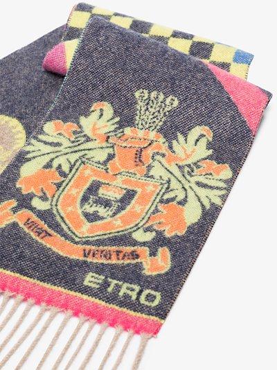 multicoloured fantasia cashmere scarf