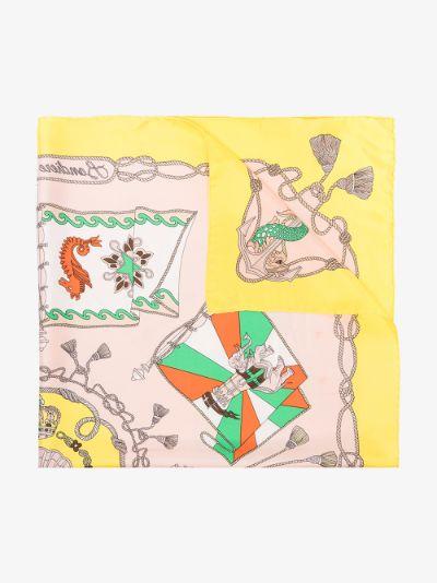 multicoloured Foulard Jodhpur silk scarf