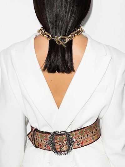 multicoloured printed belt
