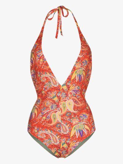 Mykonos Paisley Print Halterneck Swimsuit
