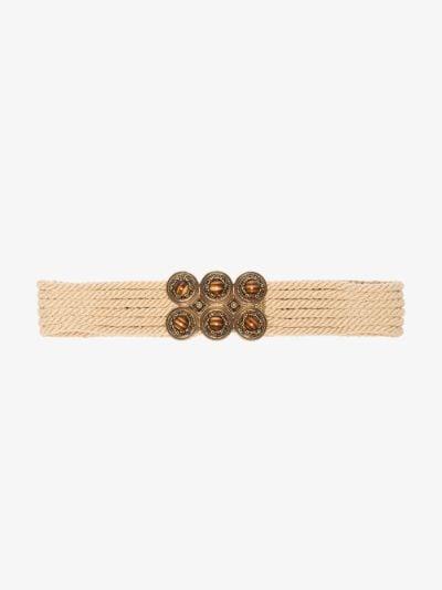 neutral embellished waist belt