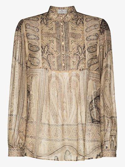 paisley print blouse