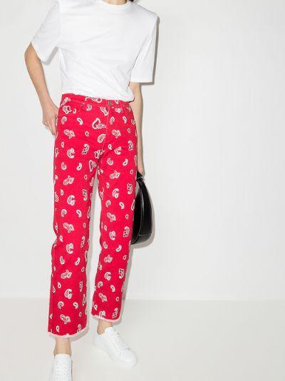 paisley print jeans