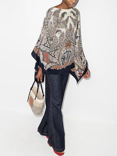 paisley shawl silk blouse
