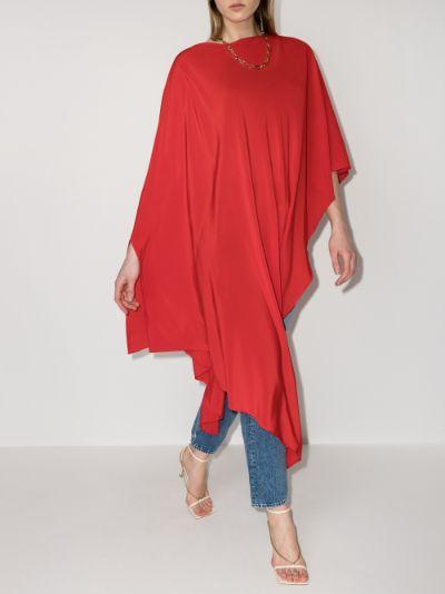 Positano silk poncho