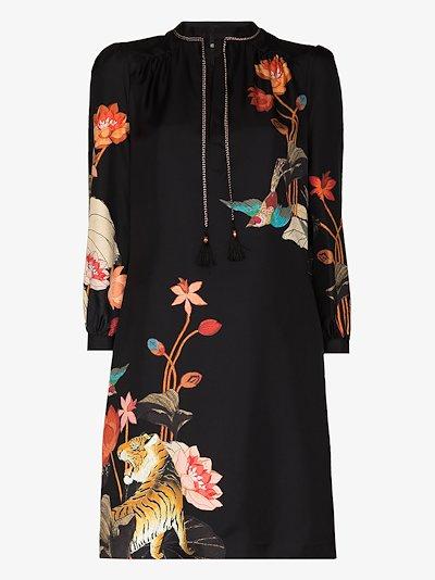 Procida Printed Silk Mini Dress