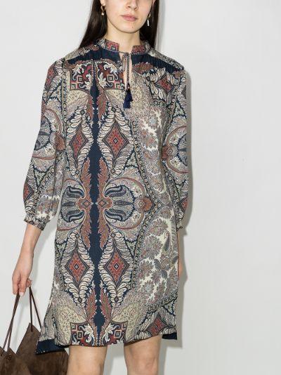 Prodica V-neck printed dress