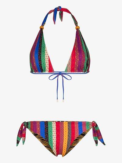 reversible stripe bikini