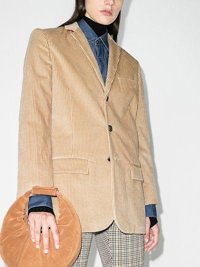 single-breasted corduroy blazer