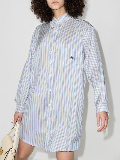 striped silk shirt dress