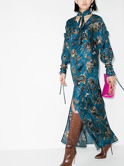Serenity silk maxi dress