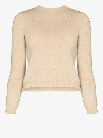 crew neck cashmere sweatshirt