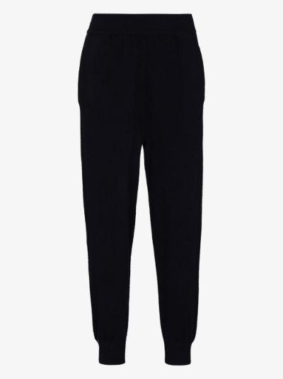 cuffed cashmere track pants