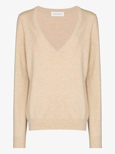 deep V-neck cashmere sweater