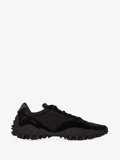black Fugu suede sneakers