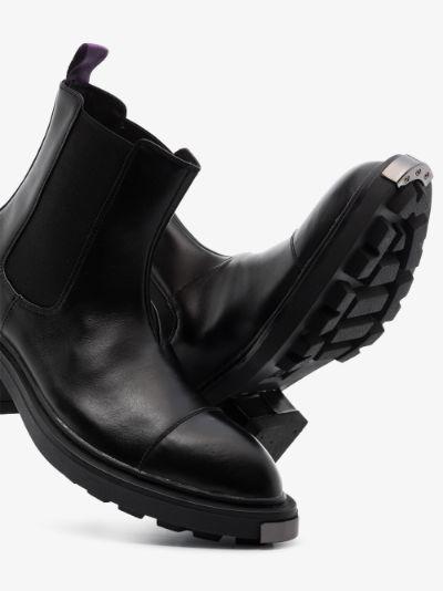 black Nikita leather chelsea boots