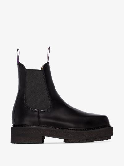 black ortega 50 chelsea boots
