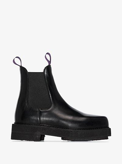 Black Ortega leather boots