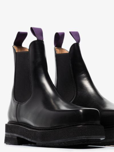 black Ortega leather Chelsea boots