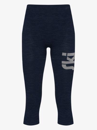 base layer three-quarter length leggings
