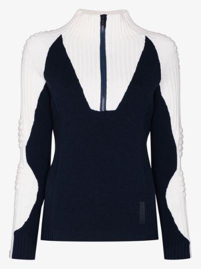 half-zip ski sweater