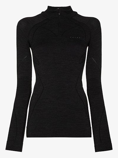 long sleeve zip top