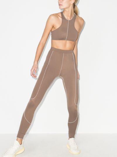 Topstitched leggings
