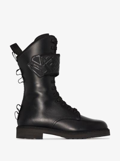 black 30 leather biker boots