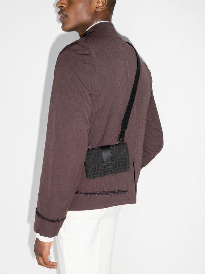black Baguette Pouch logo cross body bag