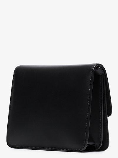 black Fab leather shoulder bag