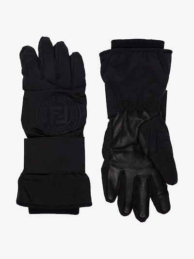 black Fendirama ski gloves