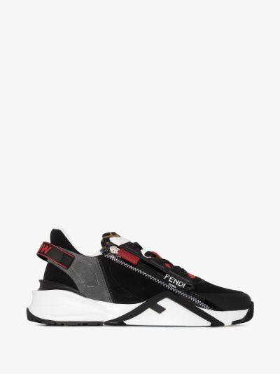 Black Flow panelled sneakers
