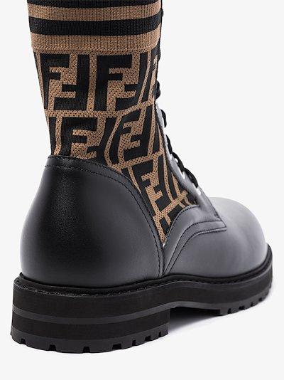 Black Mania logo combat boots