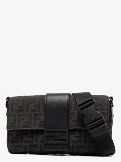 Black monogram baguette pouch bag