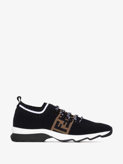 black Rockoko logo knit sneakers