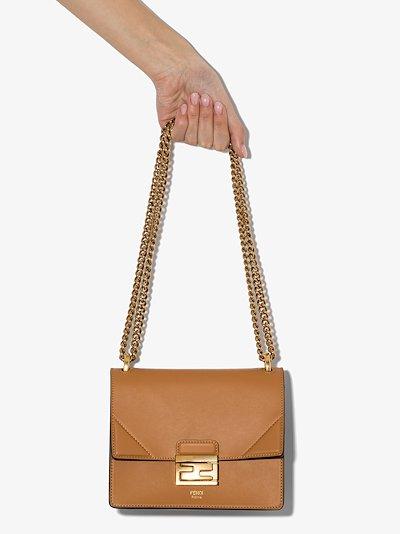 brown Kan U small leather shoulder bag